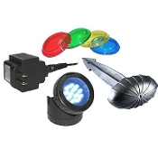 12-LED Light with Transformer, Photocell, & Colored Lenses