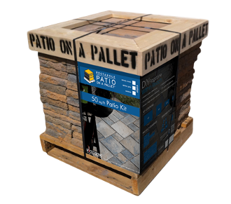 Sereno Stone Patio-on-a-Pallet Rectangular Shapes - Sedona Color